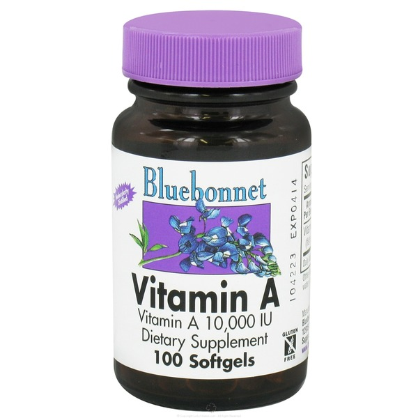 Bluebonnet Vitamin A Molecularly Distilled 10000 Iu Softgels