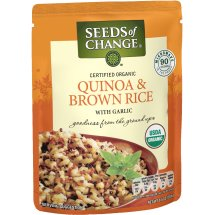 Seeds of Change Quinoa & Whole Grain Brown Rice with Garlic, 8.5 oz