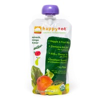 Happy Tot Organic Superfoods Pears, Mangos & Spinach Baby Food