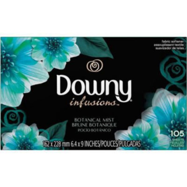 Downy Infusions Ultra Downy Infusions Botanical Mist Fabric Softener Sheets 105 count Fabric Enhancers