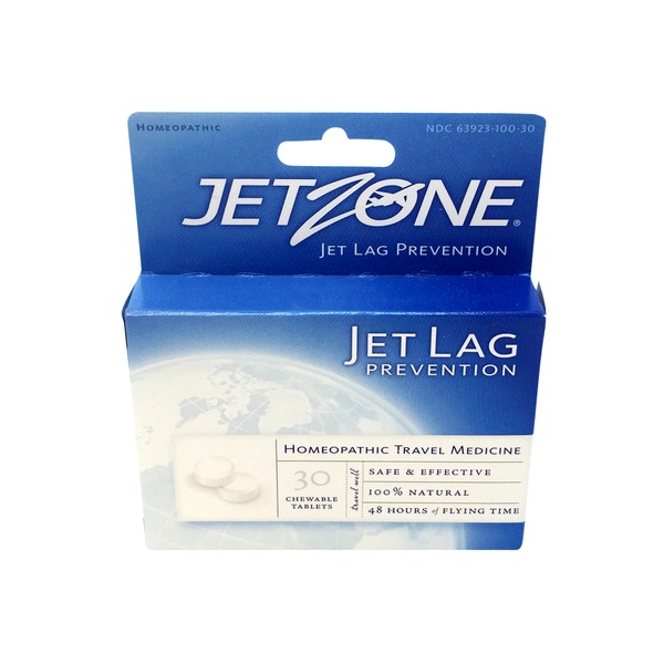 Jet Zone Jet Lag Prevention, Chewable Tablets