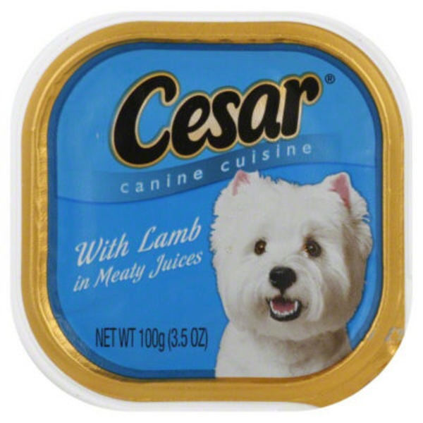 Cesar with Lamb in Meaty Juices Wet Dog Food
