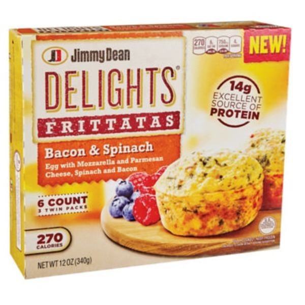 Jimmy Dean Delights Bacon & Spinach Frittatas
