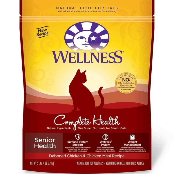 Wellness Complete Health Senior Health Deboned Chicken & Chicken Meal Recipe Cat Food 5.9 lb