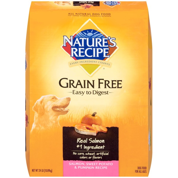 Nature's Recipe Grain Free Easy to Digest Salmon Sweet Potato & Pumpkin Recipe Dog Food