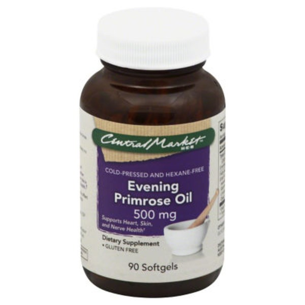 Central Market Evening Primrose Oil 500 Mg Softgels