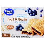 Great Value Fruit & Grain Cereal Bars, Blueberry, 10.4 oz, 8 Count