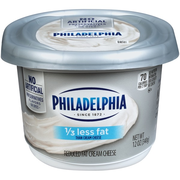 Kraft Philadelphia Reduced Fat Cream Cheese