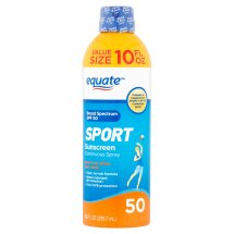 Equate Sport Sunscreen Continuous Spray Broad Spectrum Value Size, SPF 50, 10 Oz