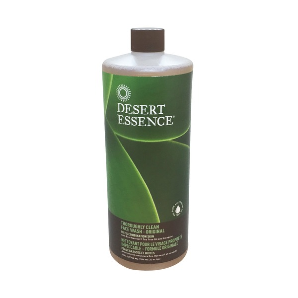 Desert Essence Thoroughly Clean Face Wash, Organic Tea Tree Oil with Awapuhi