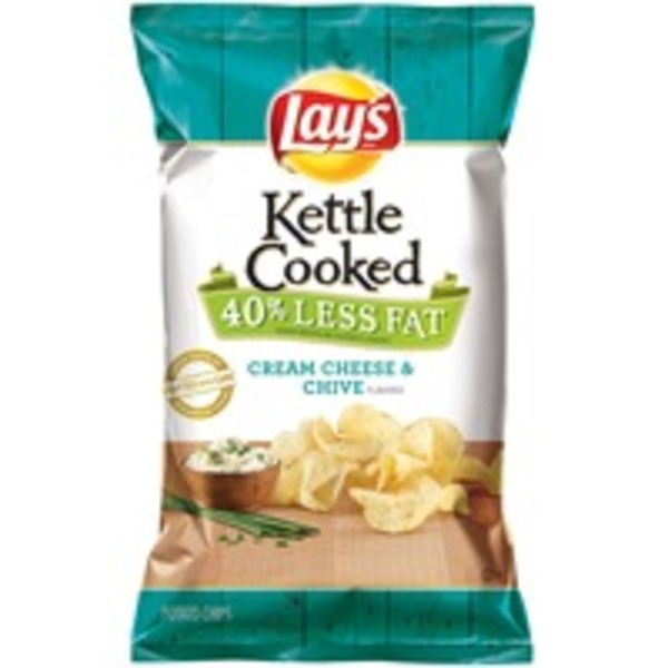 Lay's Kettle Cooked Cream Cheese & Chive Potato Chips