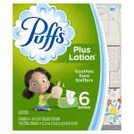 Puffs Plus Lotion White Facial Tissues 6-124 ct Boxes