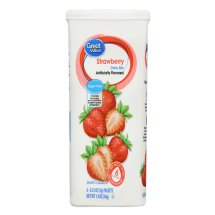 Great Value Drink Mix, Strawberry, Sugar-Free, 1.9 oz, 6 Count