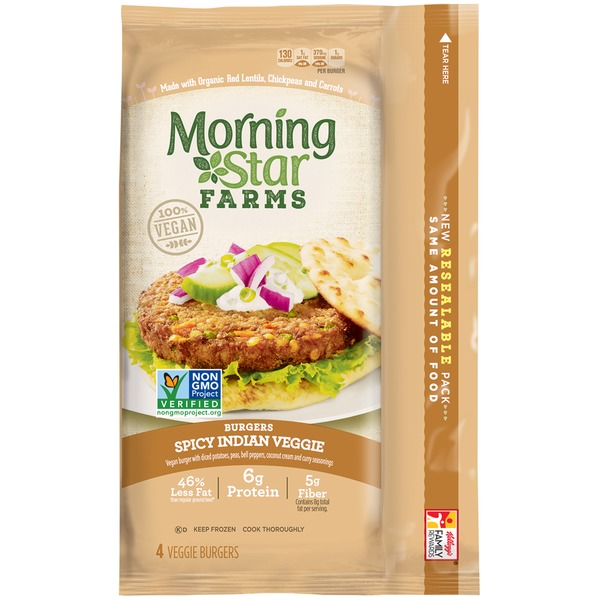 Morning Star Farms Spicy Indian Veggie Burgers