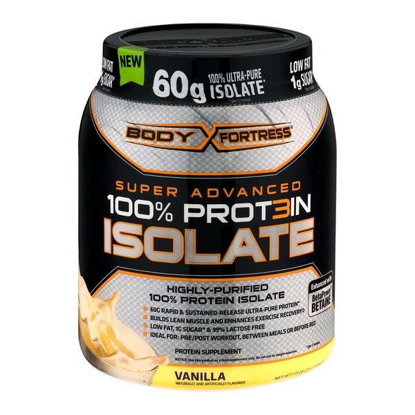 Body Fortress Super Advanced 100% Protein Isolate Vanilla