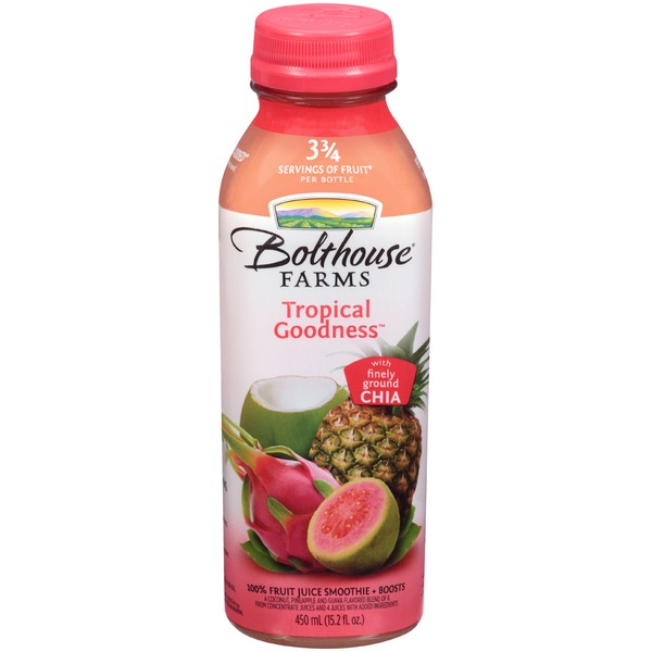 Bolthouse Farms Tropical Goodness 100% Fruit Juice Smoothie + Boosts