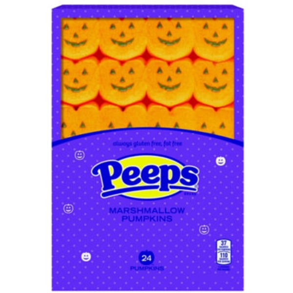 Peeps & Co Marshmallow Pumpkins, Gluten Free, Fat Free, Wrapper