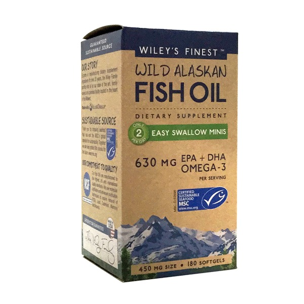 Wiley's Finest Wild Alaskan Fish Oil Easy Swallow Minis