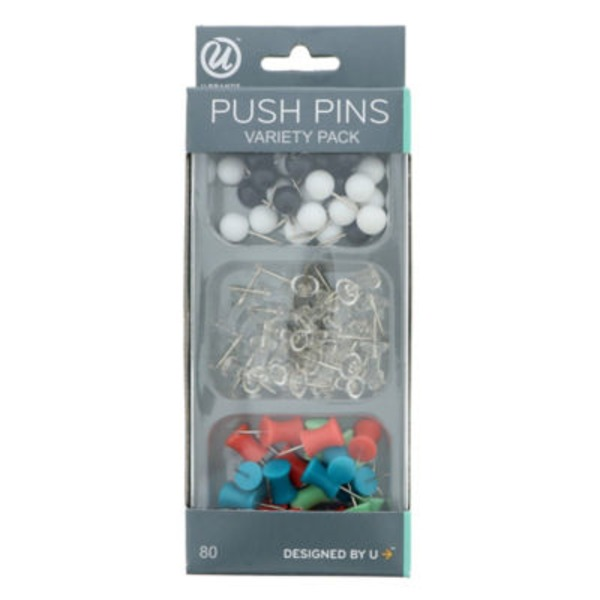 U Brands Push Pins Variety Pack