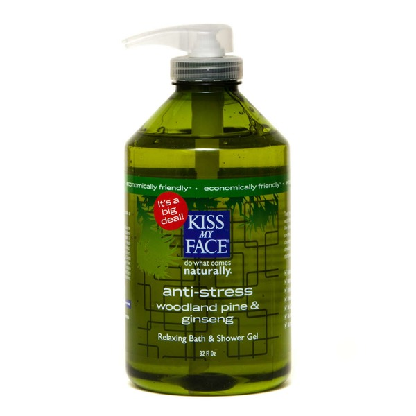 Kiss My Face Anti-Stress Aromatherapeutic Calming Woodland Pine & Ginseng Bath & Body Wash