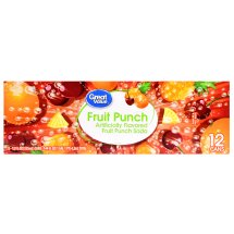 Great Value Fruit Punch Soda Cans, 12 fl oz, 12 Count