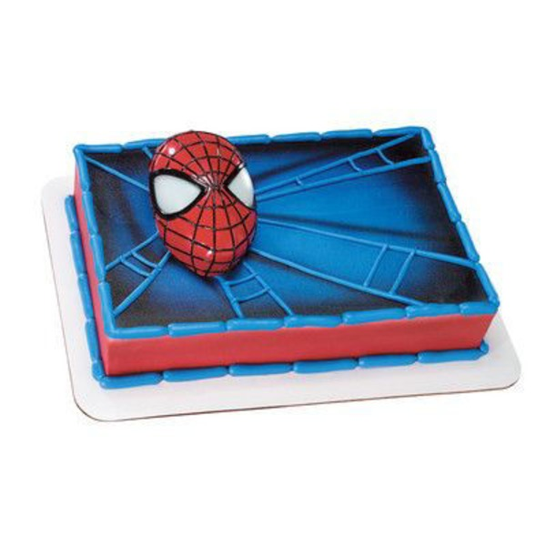 Spiderman With Light Up Eyes Cake Cake, Serves Up to 24