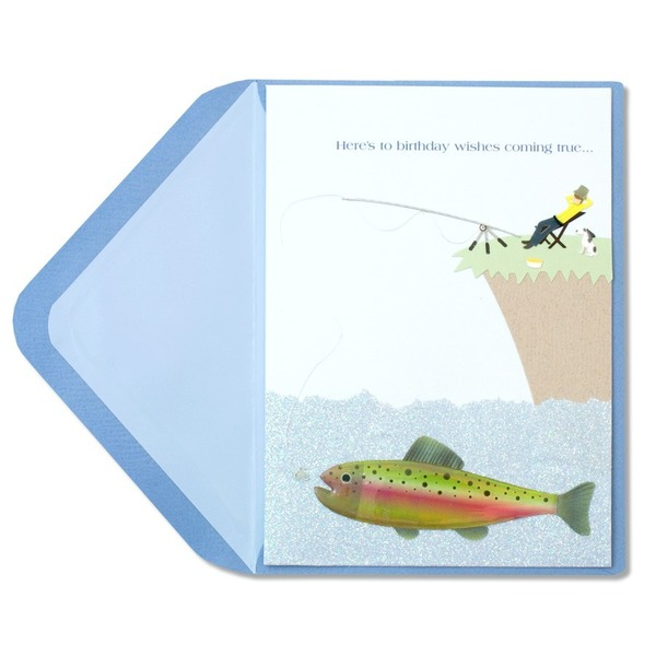 Papyrus Birthday Card - Man Fishing