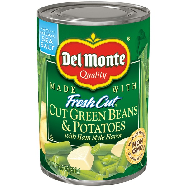 Del Monte Fresh Cut Cut Green Beans & Potatoes with Ham Style Flavor Green Beans & Potatoes