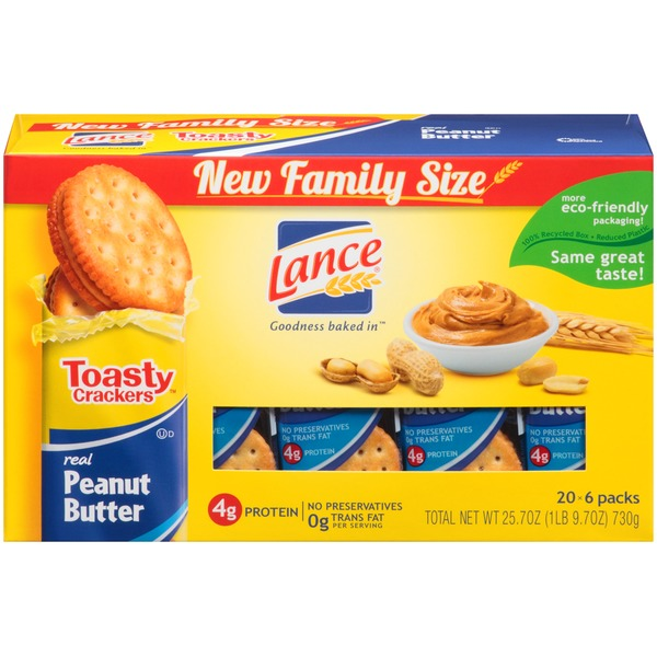 Lance Toasty Crackers Peanut Butter Sandwich Crackers