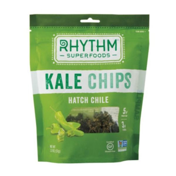 Rhythm Superfoods Hatch Chile Kale Chips