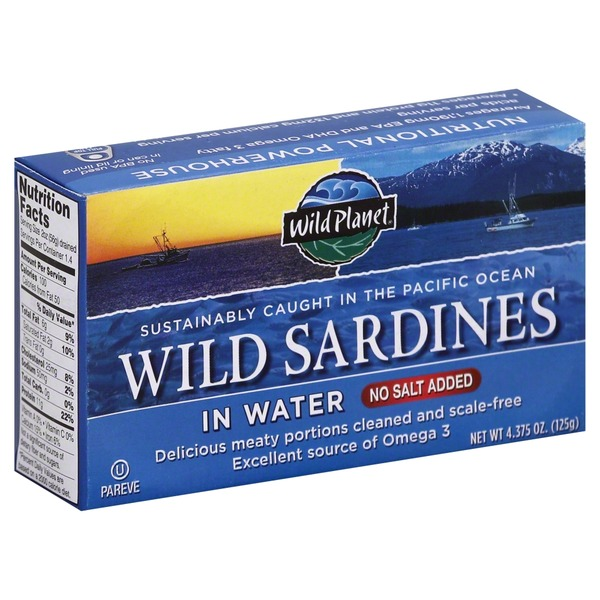 Wild Planet Wild Sardines In Water No Salted Added