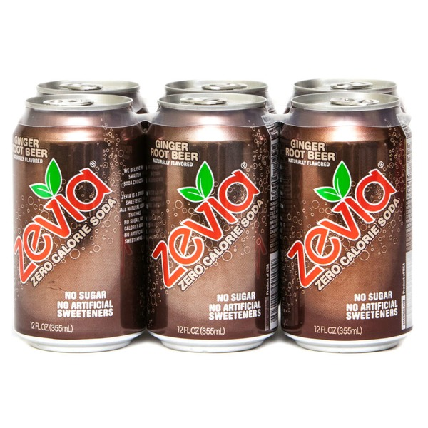 Zevia Zero Calorie Ginger Root Beer Soda