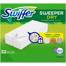 Swiffer Sweeper Dry Sweeping Pad Multi Surface Refills for Dusters Floor Mop, Lavender & Vanilla Comfort, 32 Count