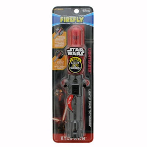 Firefly Disney Star Wars Lightsaber Lightup Timer Toothbrush Kylo Ren Soft