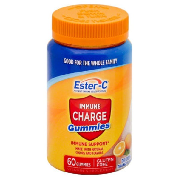 Ester-C Immune Charge Gummies Orange - 60 CT