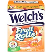 Welch's Fruit Snacks Tropical Punch Fruit Rolls