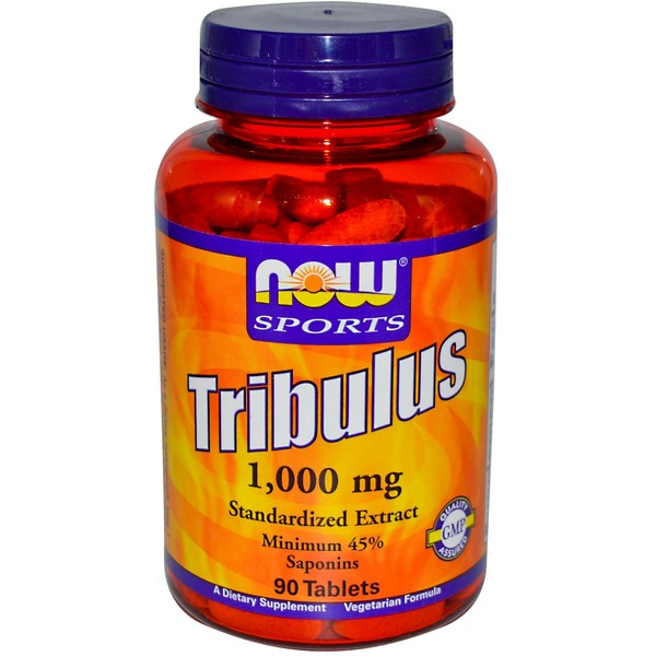 Now Sports Tribulus 1,000 Mg Standardized Extract Minimum 45% Saponins Vegetarian Formula Dietary Supplement 90 Tablets