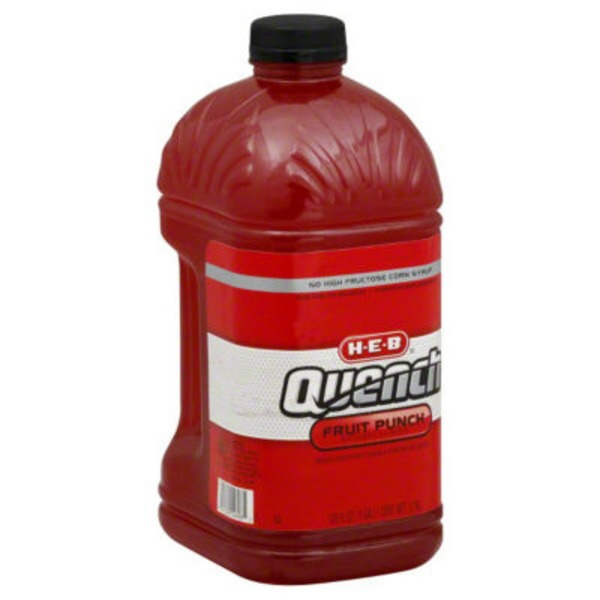 H-E-B Quench Electrolyte Balanced Fruit Punch Hydration Replenishment