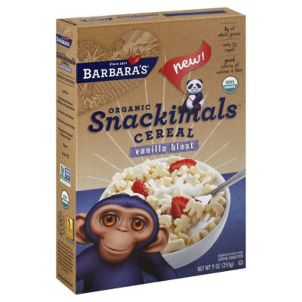 Snackimals Cereal Vanilla Blast Organic Snackimals