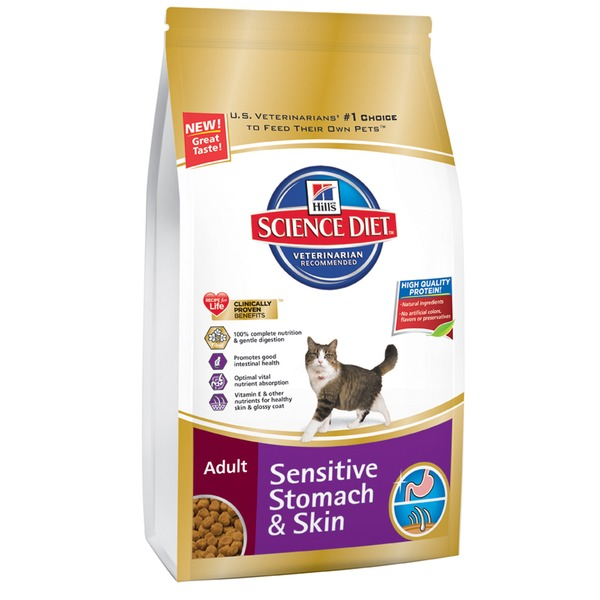 Hill's Science Diet Veterinarian Recommended Sensitive Stomach & Skin Cat Food