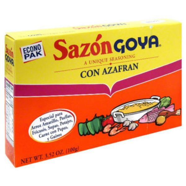 Goya Sazon Con Azafran Seasoning