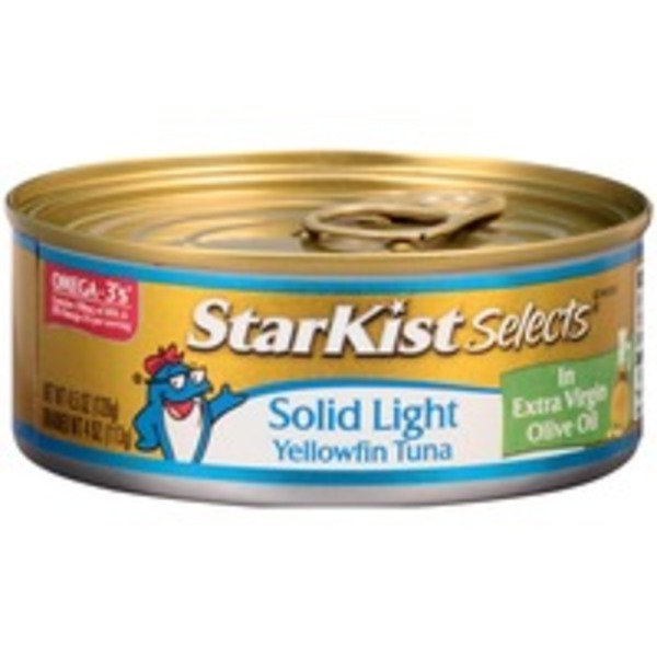 Starkist Selects Solid Yellowfin in Extra Virgin Olive Oil Tuna
