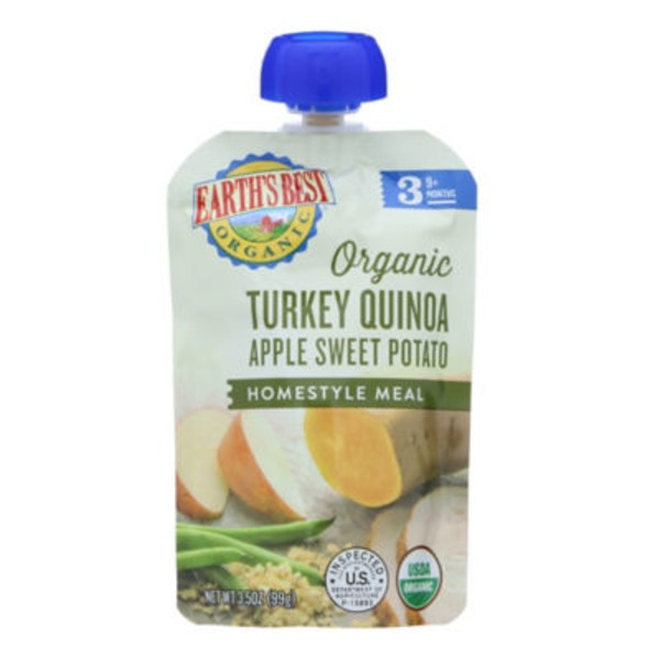 Earth's Best Organic Turkey Quinoa Apple Sweet Potato Homestyle Meal 9+ Months
