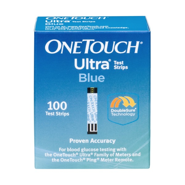 Costco OneTouch Ultra Blood Glucose Test Strips Blue - 100 CT