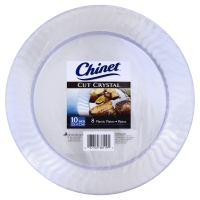Tom Thumb Chinet Cut Crystal Plates Plastic 10 Inch Delivery Online ...