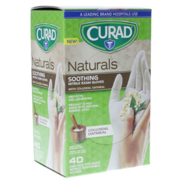 Curad Naturals Soothing Exam Glove With Colloidal Oatmeal