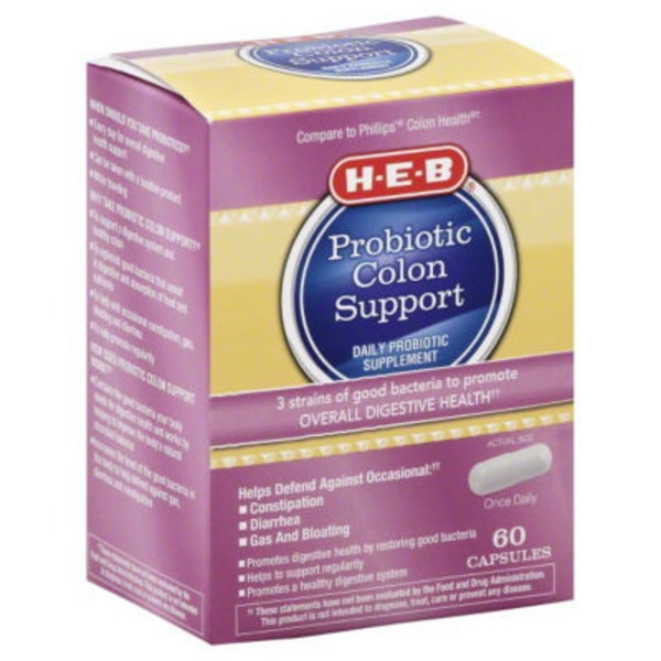 H-E-B Probiotic Colon Support Capsules