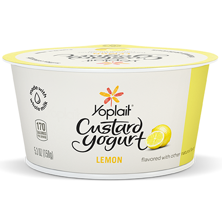 Yoplait Custard Whole Milk Yogurt Lemon