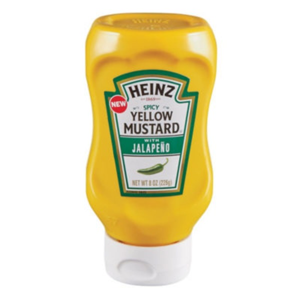 Heinz Spicy Yellow Mustard with Jalapeno