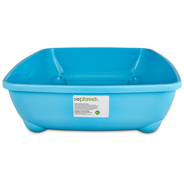 So Phresh Aqua Blue X Large Open Litter Box